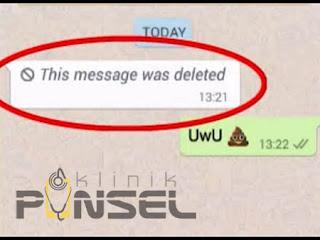 cara melihat pesan wa yg dihapus pengirim