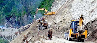 Landslide at NH 10 Setikhola