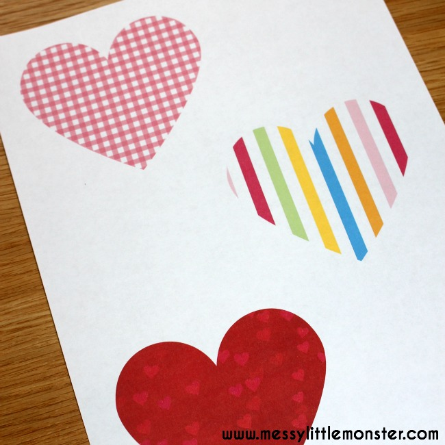 free printable folded heart envelopes- secret love notes