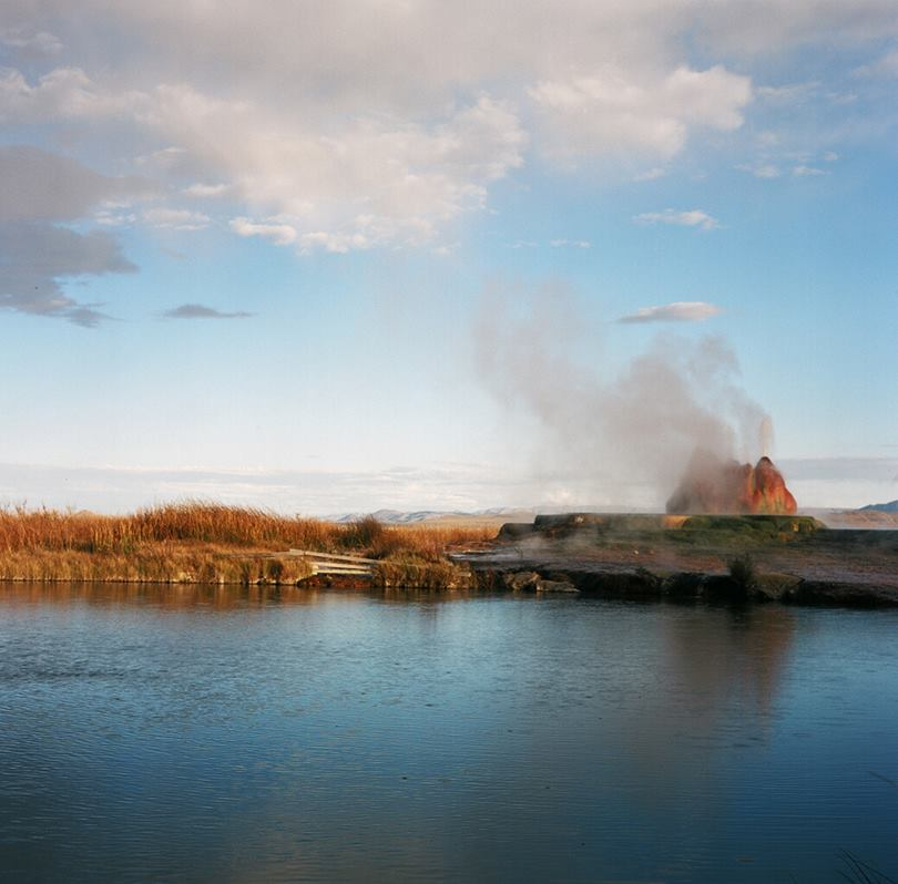 Fly Geyser in black rock desert, USA