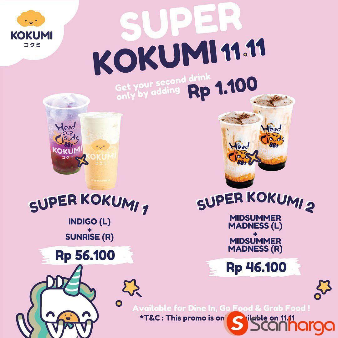 Kokumi Super Promo 11.11 Tambah +Rp 1.100 dapat 1 Minuman