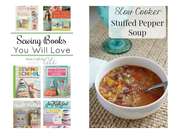 Sewing Books you will love slow cooker stuffed pepper soup on Home Crafts by Ali