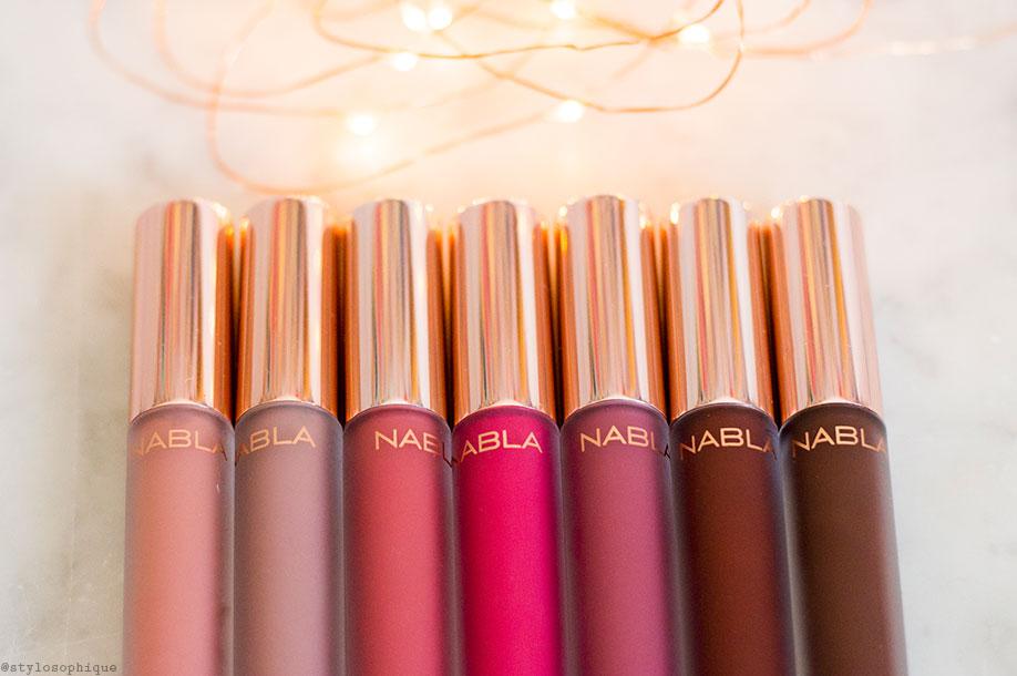 Nabla, Dreamy Matte, Liquid Lipstick, Coco, Stronger, Five o' clock, Sweet Gravity, Unspoken, Grande Amore, Kernel, swatch