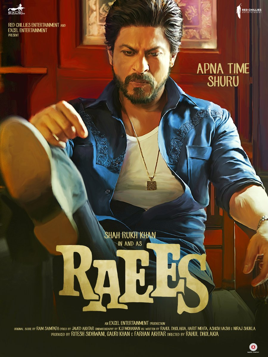 full cast and crew of bollywood movie Raees! wiki, SRK Raees Release date edit 2016, story, poster, trailer ft Shahrukh Khan, Nawazuddin Siddiqui