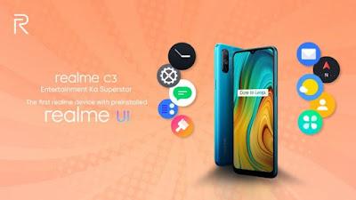 Realme C3 أول هاتف يعمل بواجهة realme UI