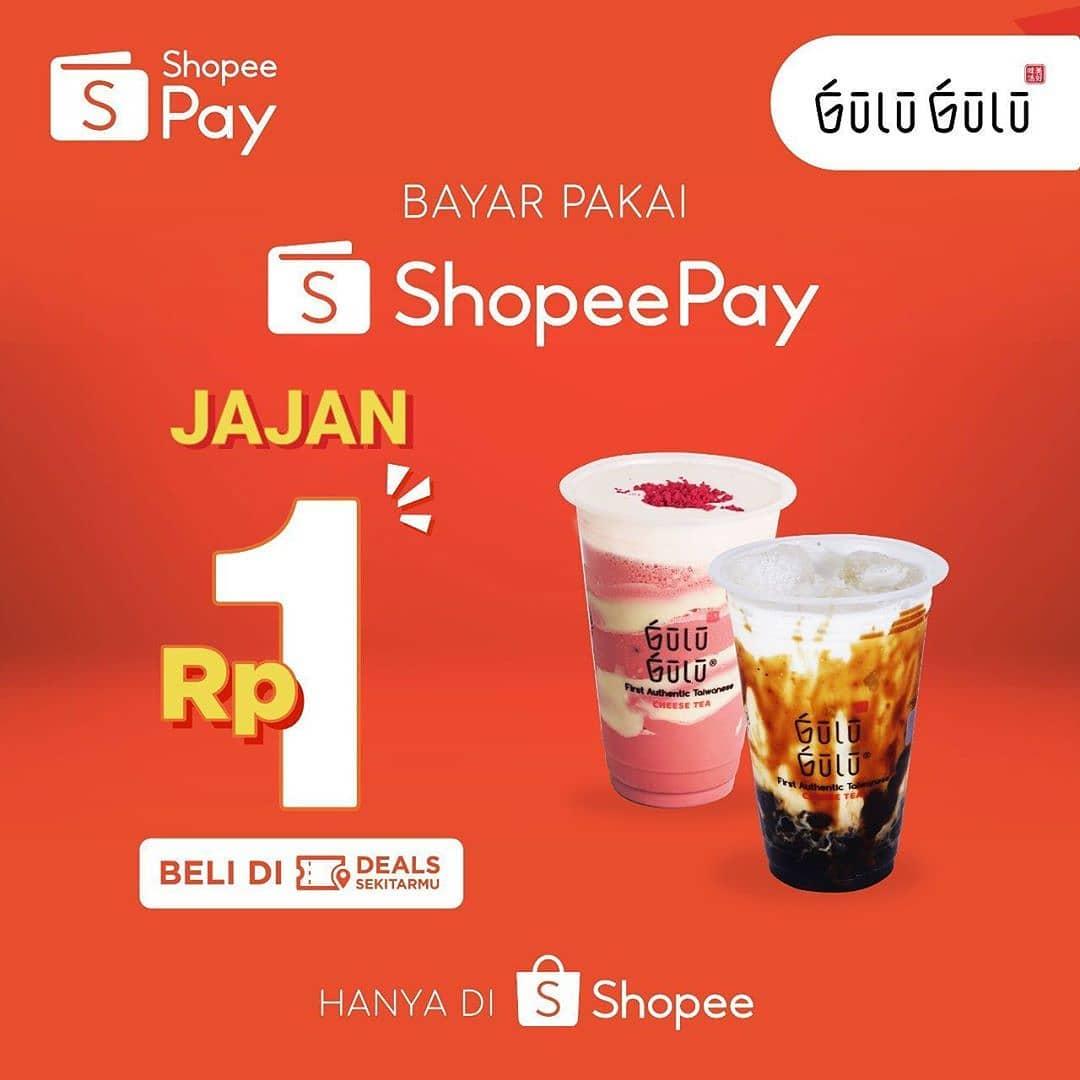 Promo Gulu Gulu Pakai ShopeePay Jajan Semua Minuman Bayar Cuma 1 Rupiah Saja!