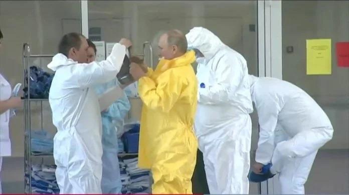 Vladimir Putin, el primer presidente del mundo en visitar a pacientes con Coronavirus