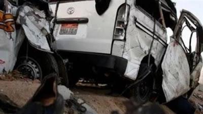 #عــاجــل.. مصرع وإصابة 11 في حادث انقلاب ميكروباص