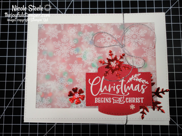 for unto us, shaker cards, christmas cards, how to make a card, stampin' up!, papercrafting, nicole steele, independent stampin' up! demonstrator, the joyful stamper, pittsburgh pa