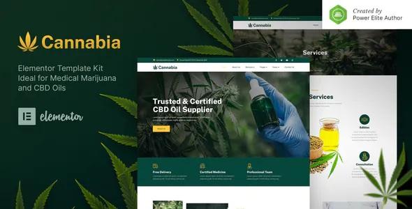Best Medical Marijuana & CBD Oil Elementor Template Kit