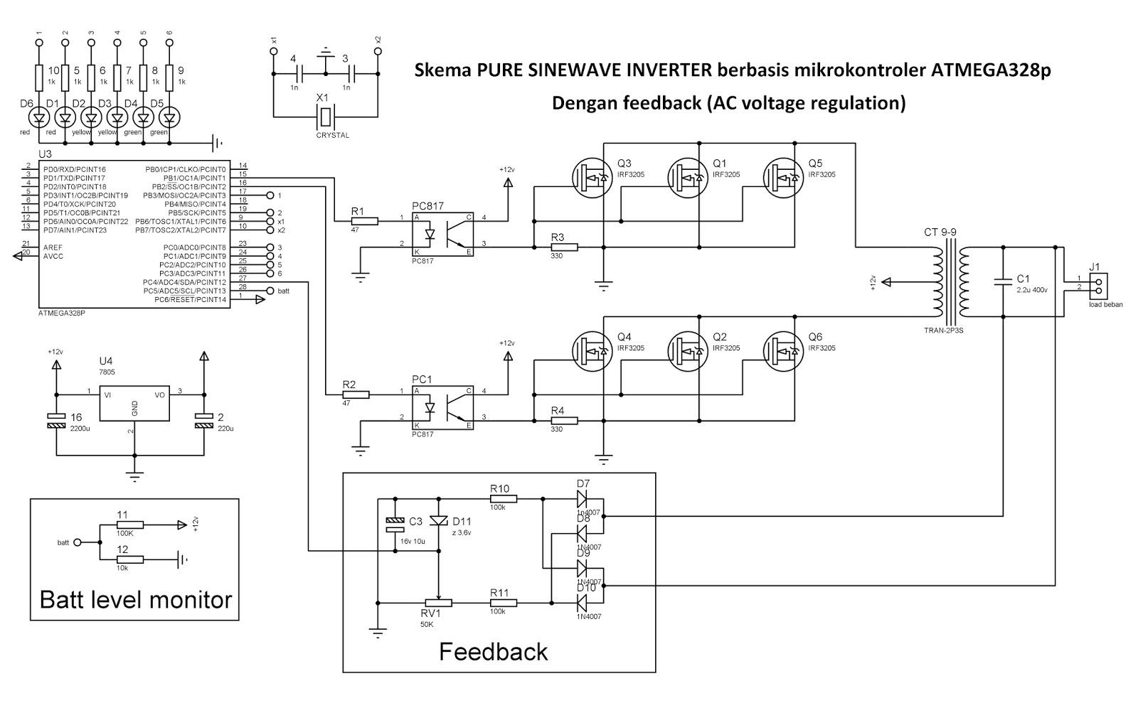 sema pure sinewave inverter berbasis atmega328 dengan feedback ac rh sandiinverter blogspot com