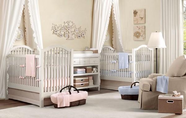 Dormitorios de bebe estilo clasico tradicional by for Iluminacion habitacion bebe