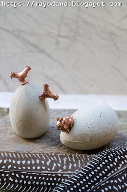 Ostereier aus Beton