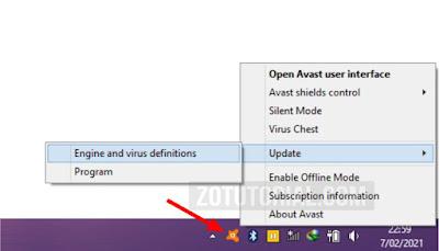 Cara Update Antivirus Avast di Laptop/PC Windows