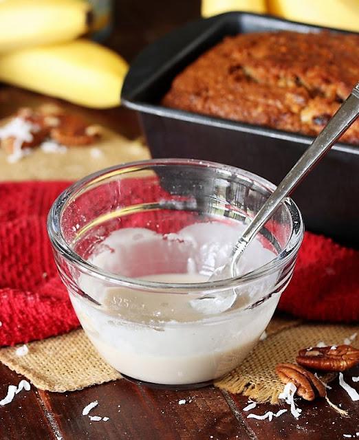 Glaze for Hummingbird Banana Bread Image