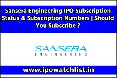 Sansera Engineering IPO Subscription Status