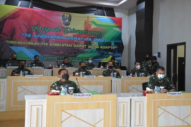 Kasad Minta Pimpinan TNI- AD Menindaklanjuti  Hasil Rapim Membangun TNI AD Yang Adaptif