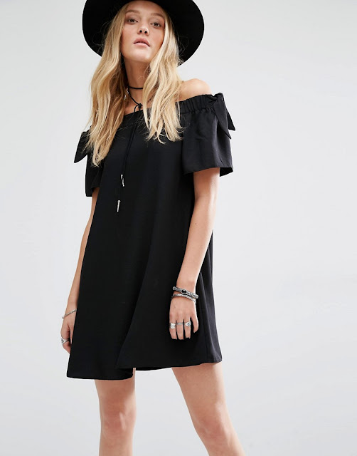 mango off shoulder dress, black off shoulder dress,