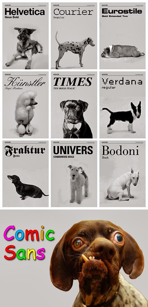 Funny Dog Fonts Joke Picture - Comic Cans