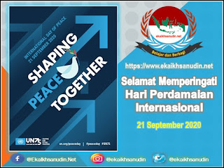 Hari Perdamaian Internasional 2020, International Day of Peace 2020