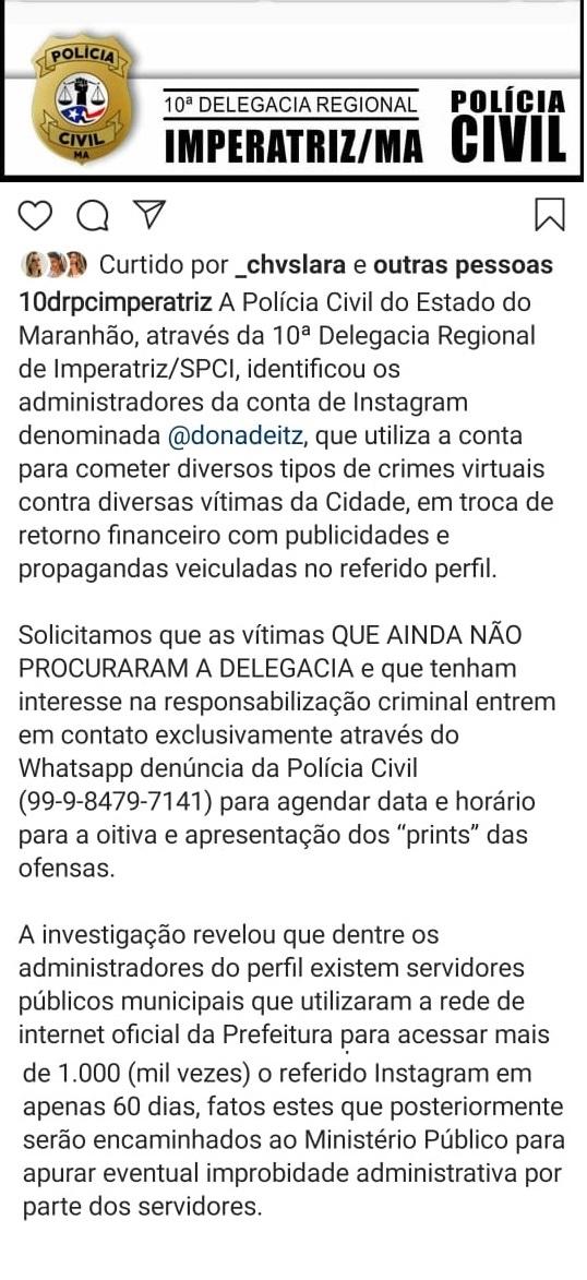 BOMBA! BOMBA! Servidores publicos municipais estavam usando a rede oficial da prefeitura de Imperatriz para cometer crimes virtuais!!!