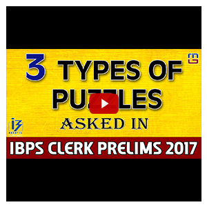 3 Types Of Puzzles | Reasoning | IBPS Clerk PRE 2017