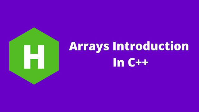 HackerRank Arrays Introduction in C++ problem solution