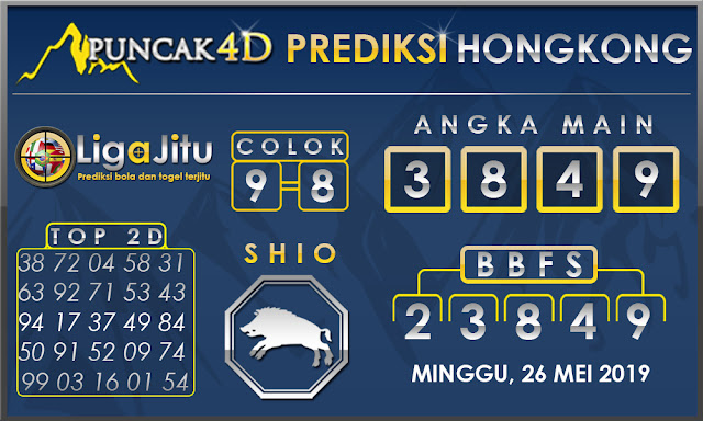 PREDIKSI TOGEL HONGKONG PUNCAK4D 26 MEI 2019