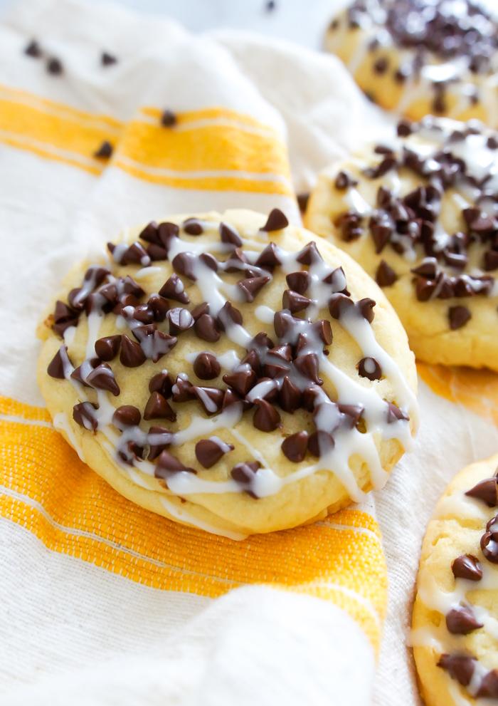 German bakery-style chocolate chip cookies