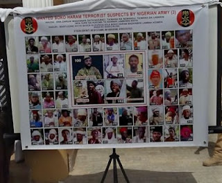 Fresh List of WANTED 55 Boko Haram Suspects UNVEILED By The Army