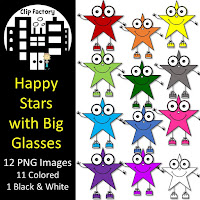 Free Happy Stars with Big Glasses