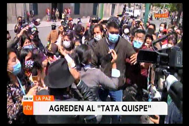 """Masistas contradiden nuevamente el discurso de paz de Choquehuanca: Agreden al """"tata"""" Quispe"""