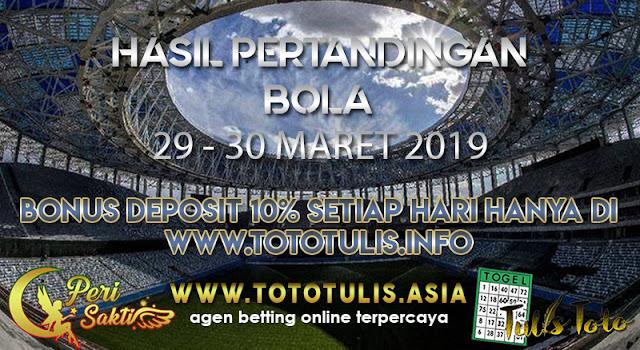 HASIL PERTANDINGAN BOLA TANGGAL 28 – 29 MARET 2019