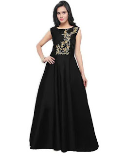Designer Trendy Taffeta Satin Woman Gown