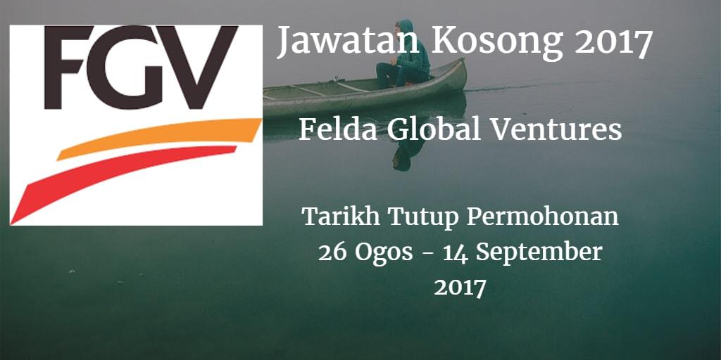 Jawatan Kosong FGV 26 Ogos - 14 September 2017