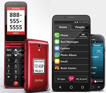 Jitterbug cell phones and smartphones