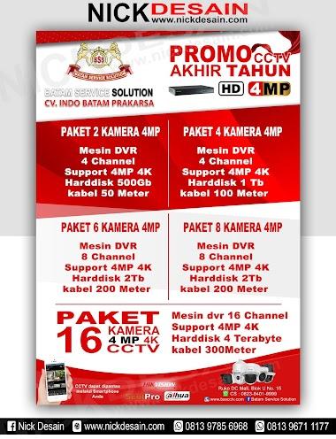 Contoh Desain Brosur CCTV - Percetakan Tanjungbalai
