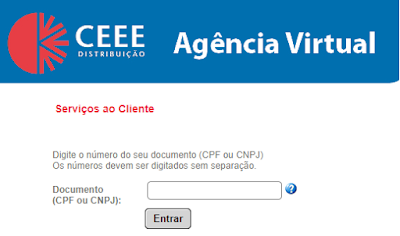 Imagem do Painel de acesso a Agência Virtual CEEE