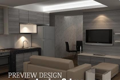 Hasil design 3dmax pantry apartemen via online