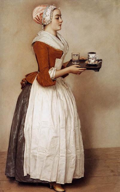 Jean-Étienne Liotard, Fata cu ciocolata. 1744