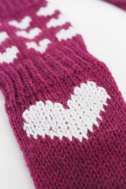 sydän villasukat