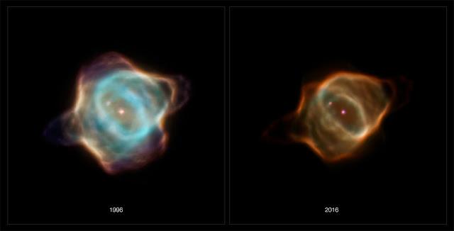 Mudança drástica na nebulosa Hen 3-1357 - Nebulosa Arraia