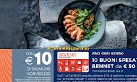 Con Salmone Norvegese vinci 140 Card Bennet da 50 euro (10 premi ogni giorno)