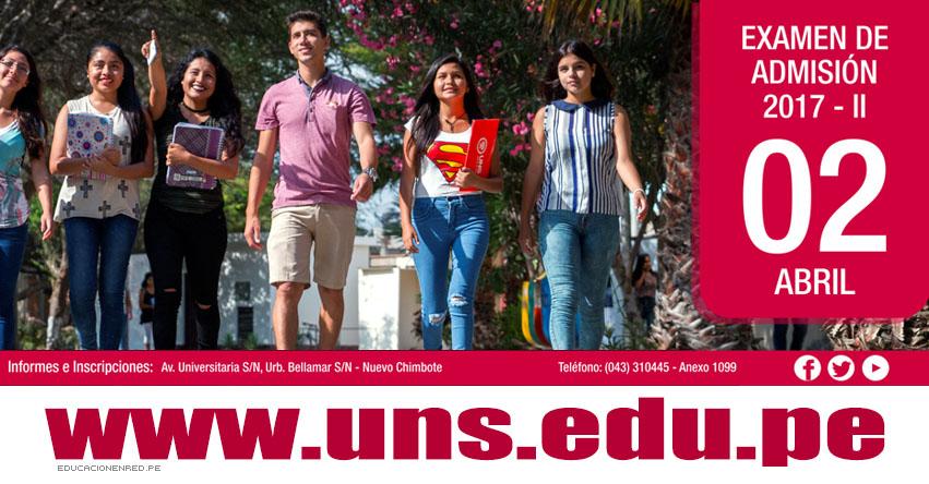 Resultados UNS 2017-2 (2 Abril) Ingresantes Examen admisión Universidad del Santa - www.uns.edu.pe