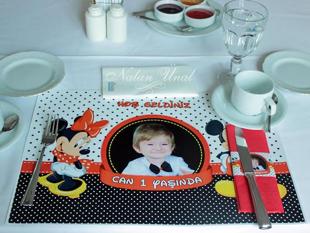 mickey mouse temalı doğum günü partisi