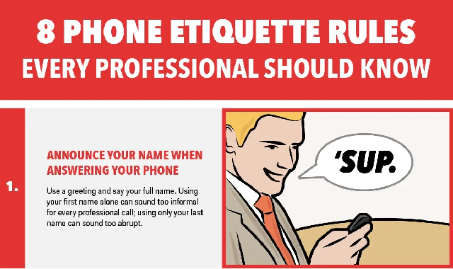 8 phone etiquette rules every professional should know #infographic