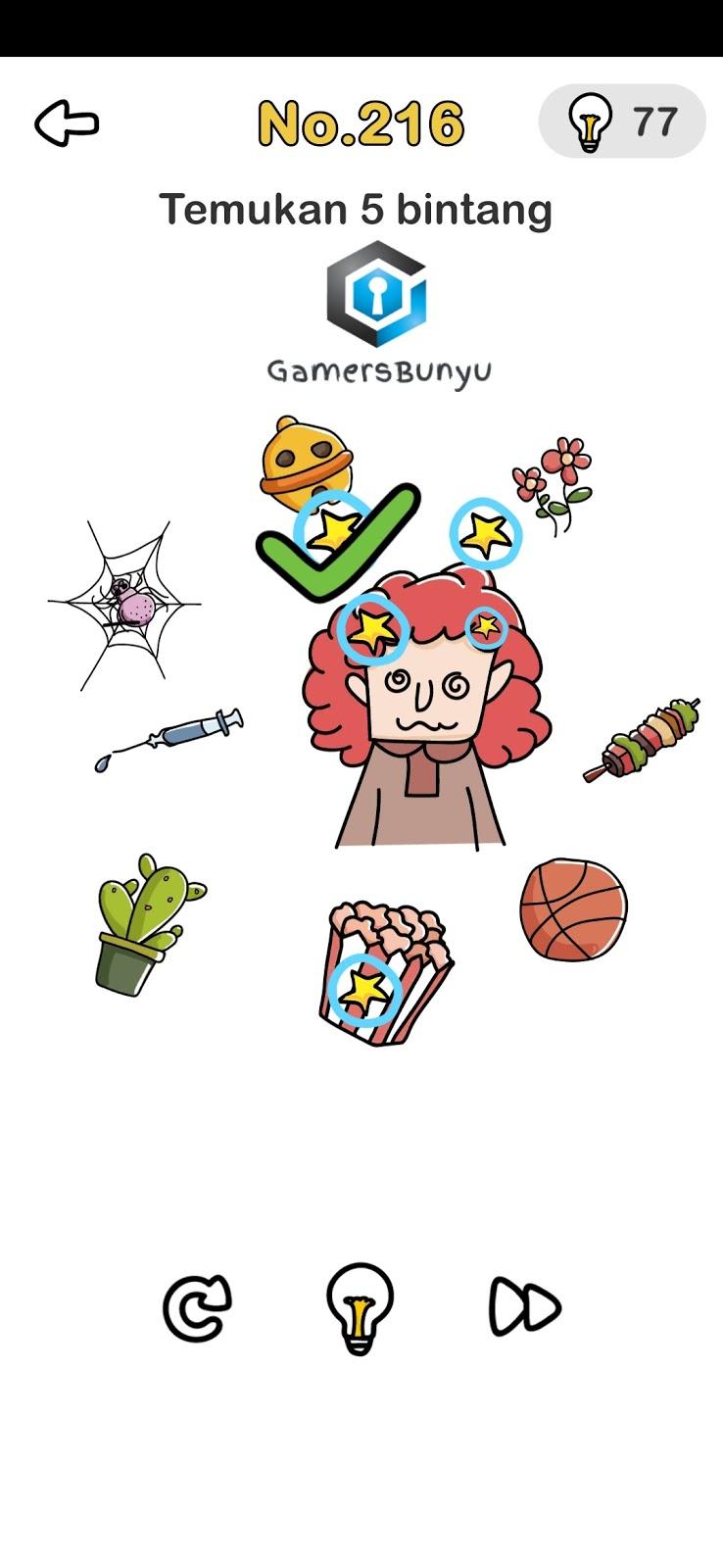 Temukan 5 Bintang Brain Out : temukan, bintang, brain, Jawaban, Brain, Level, Gamers, Bunyu