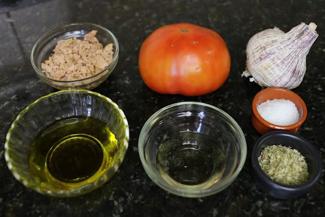 Ingredientes para tomates rocieros