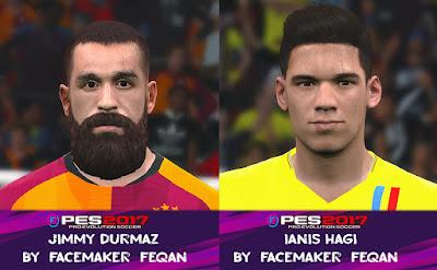PES 2017 Facepack Jimmy Durmaz & Ianis Hagi by Feqan
