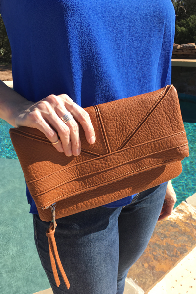 Moda Luxe Park City Clutch Brown